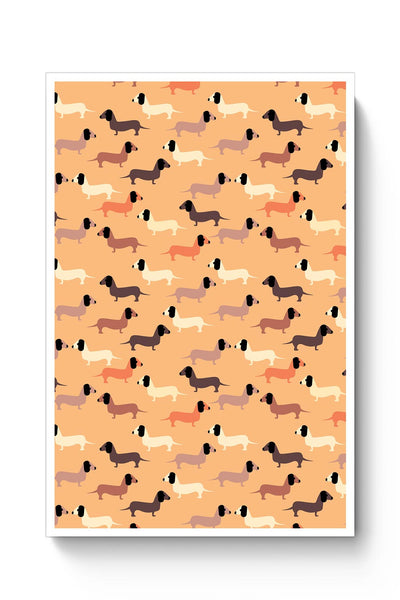 vector dog seamless pattern Poster Online India