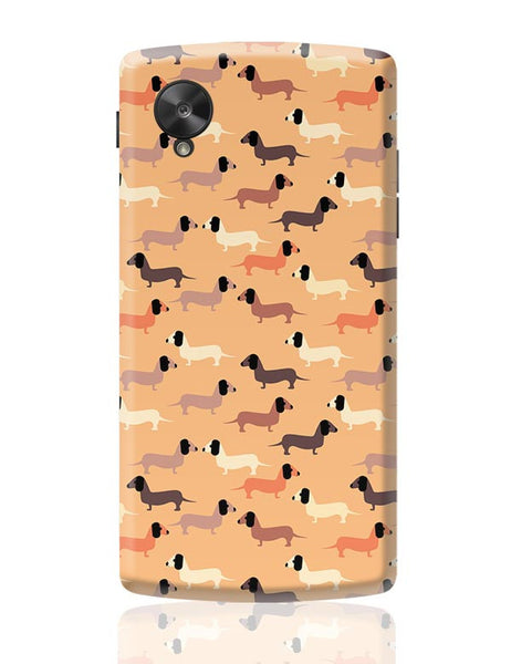 vector dog seamless pattern Google Nexus 5 Covers Cases Online India