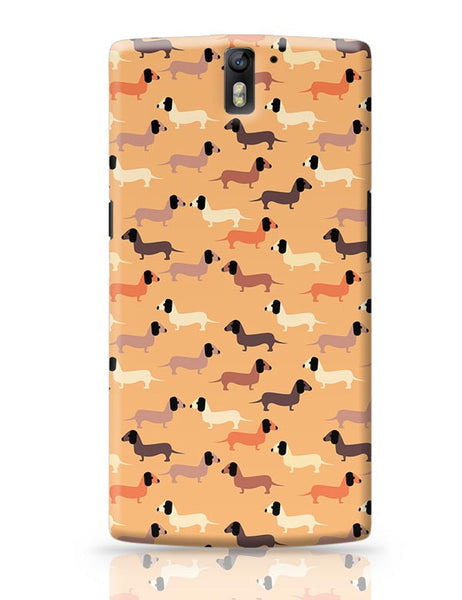 vector dog seamless pattern OnePlus One Covers Cases Online India