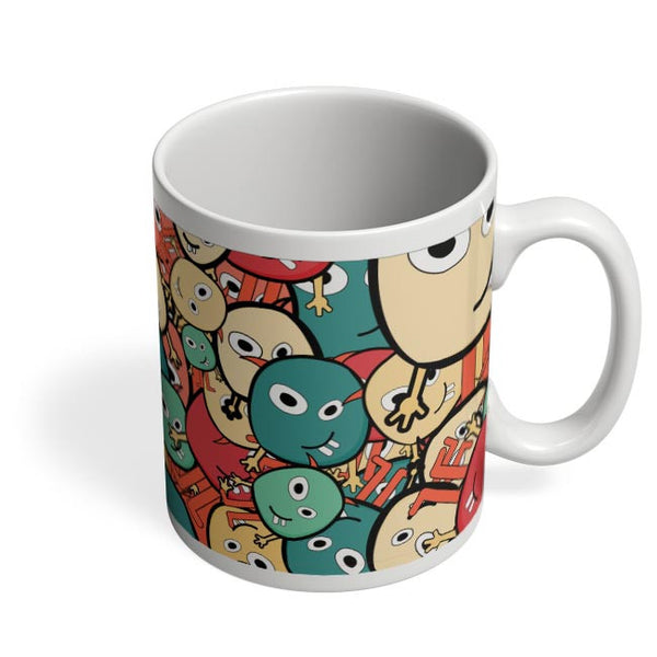 Funny Colorful Doodles Coffee Mug Online India