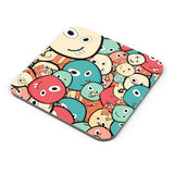 Funny Colorful Doodles Coaster Online India
