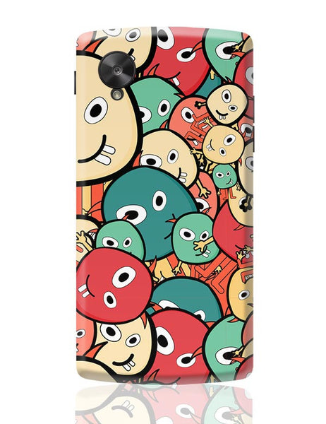 Funny Colorful Doodles Google Nexus 5 Covers Cases Online India