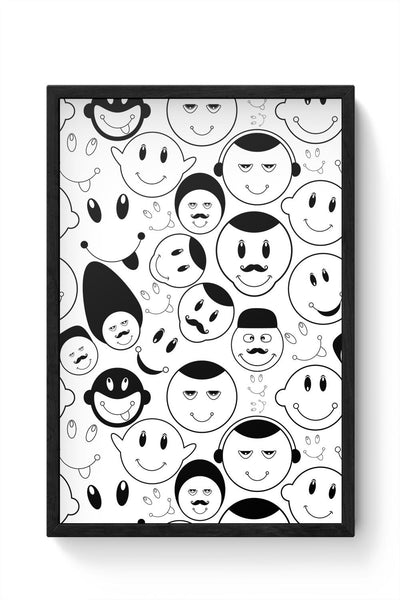 Black And White Doodle Framed Poster Online India