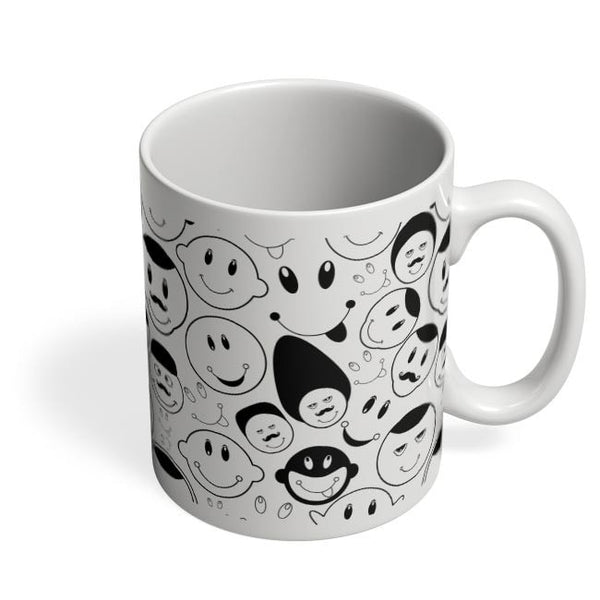 Black And White Doodle Coffee Mug Online India