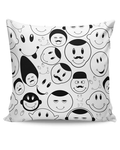 Black And White Doodle Cushion Cover Online India