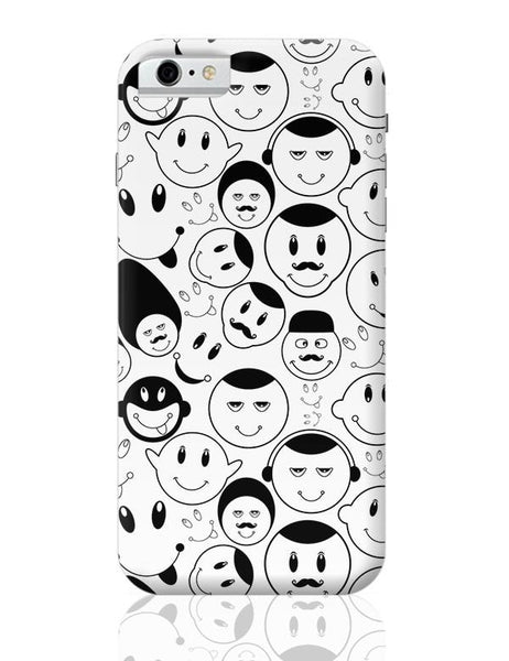 Black And White Doodle iPhone 6 6S Covers Cases Online India