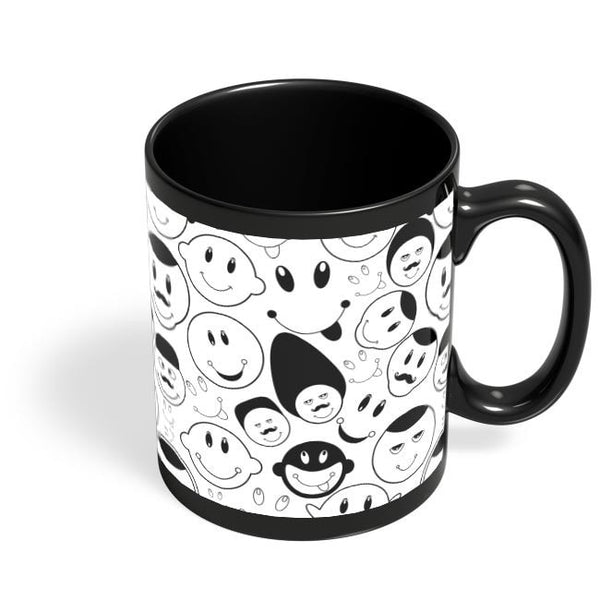 Black And White Doodle Black Coffee Mug Online India