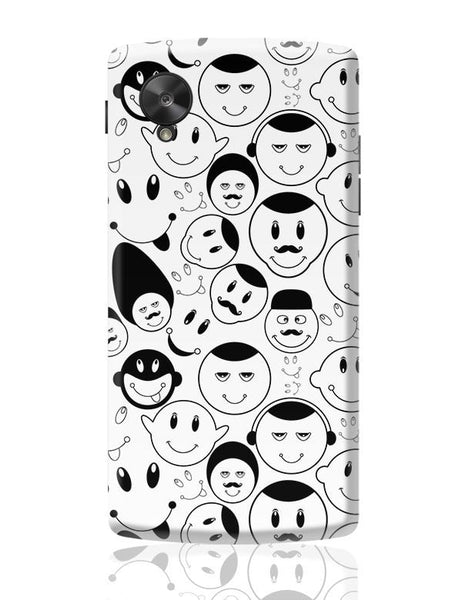 Black And White Doodle Google Nexus 5 Covers Cases Online India