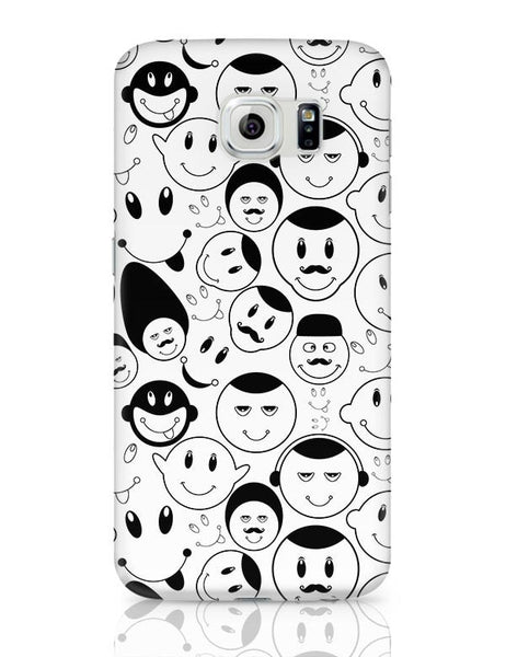 Black And White Doodle Samsung Galaxy S6 Covers Cases Online India