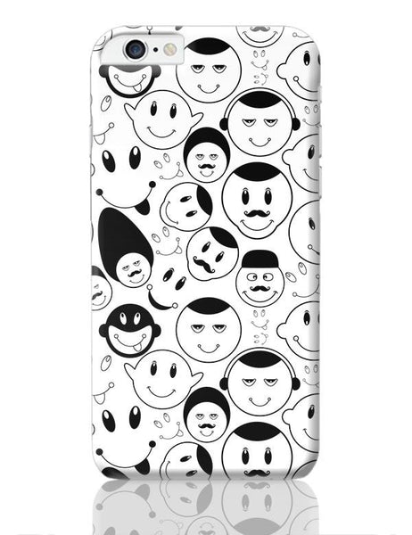 Black And White Doodle iPhone 6 Plus / 6S Plus Covers Cases Online India