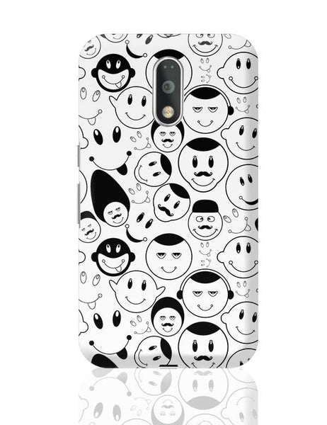 Black And White Doodle Moto G4 Plus Online India