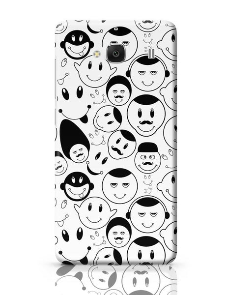 Black And White Doodle Redmi 2 / Redmi 2 Prime Covers Cases Online India