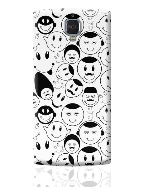 Black And White Doodle OnePlus 3 Covers Cases Online India