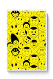 Buy Black And yellow Doodles Poster