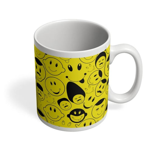 Black And yellow Doodles Coffee Mug Online India
