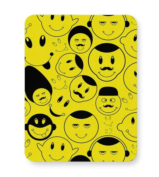 Black And yellow Doodles Mousepad Online India