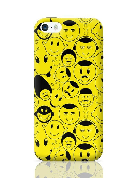 Black And yellow Doodles iPhone 5/5S Covers Cases Online India