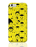 Black And yellow Doodles iPhone 6 6S Covers Cases Online India