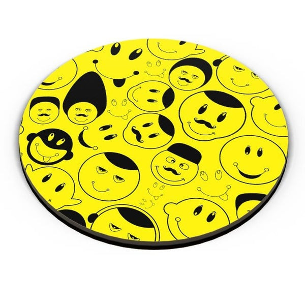 Black And yellow Doodles Fridge Magnet Online India