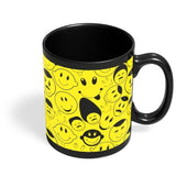 Black And yellow Doodles Black Coffee Mug Online India