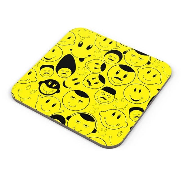 Black And yellow Doodles Coaster Online India