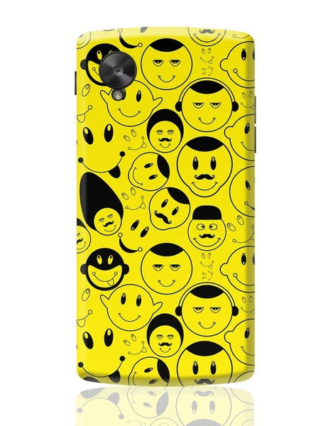 Black And yellow Doodles Google Nexus 5 Covers Cases Online India
