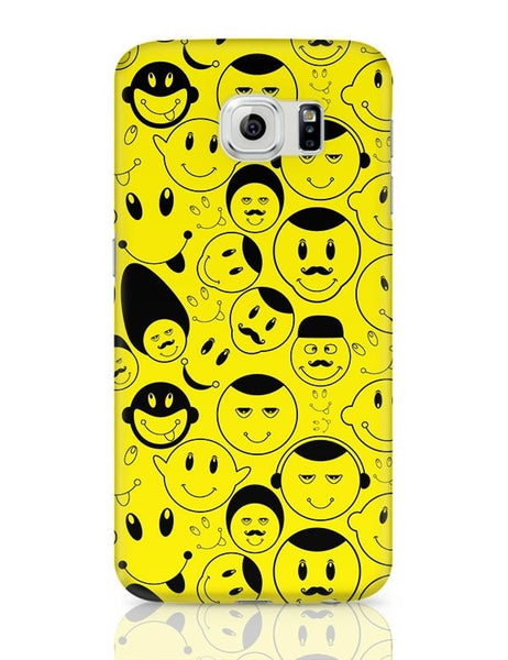 Black And yellow Doodles Samsung Galaxy S6 Covers Cases Online India