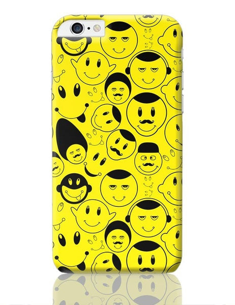 Black And yellow Doodles iPhone 6 Plus / 6S Plus Covers Cases Online India