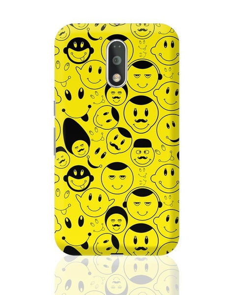 Black And yellow Doodles Moto G4 Plus Online India