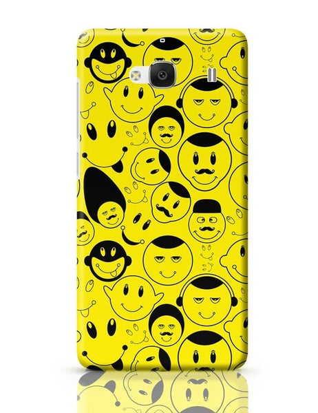 Black And yellow Doodles Redmi 2 / Redmi 2 Prime Covers Cases Online India