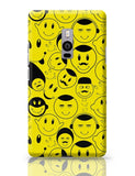 Black And yellow Doodles OnePlus Two Covers Cases Online India