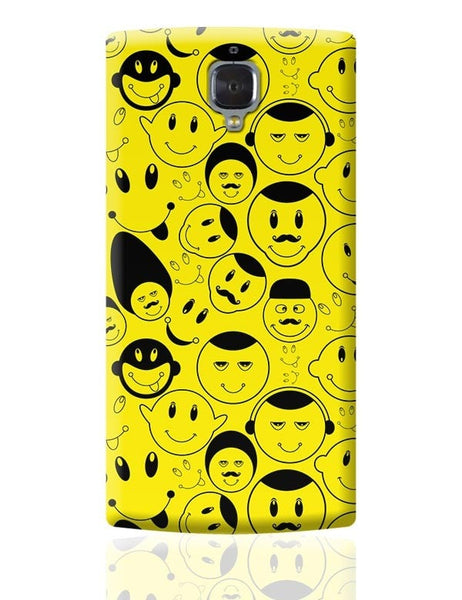 Black And yellow Doodles OnePlus 3 Covers Cases Online India