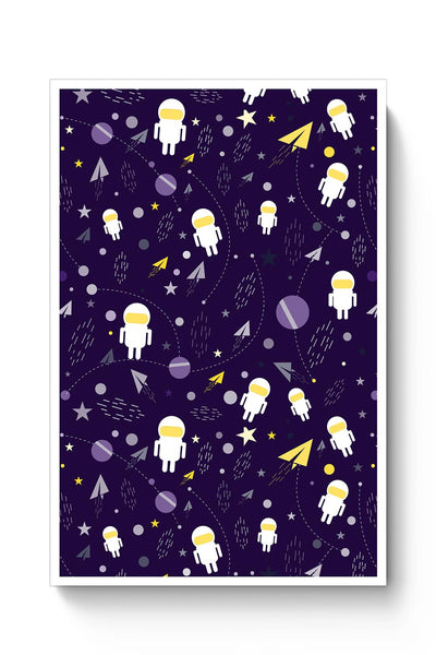 Buy Planets stars and other objects in space on dark blue Poster