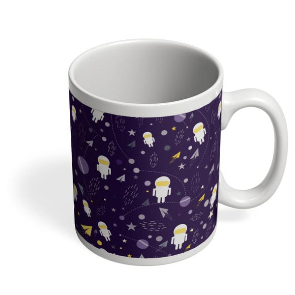 Planets stars and other objects in space on dark blue Coffee Mug Online India