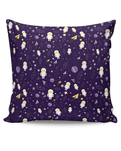 Planets stars and other objects in space on dark blue Cushion Cover Online India