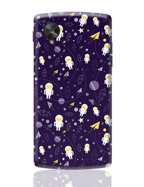 Planets stars and other objects in space on dark blue Google Nexus 5 Covers Cases Online India