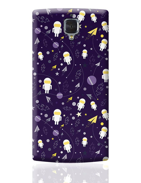 Planets stars and other objects in space on dark blue OnePlus 3 Covers Cases Online India