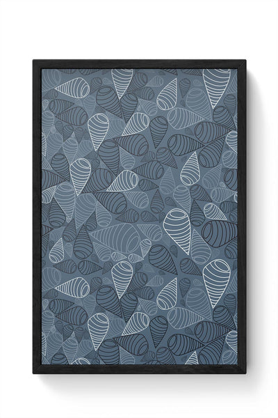 Swirl geometric  on grey Framed Poster Online India