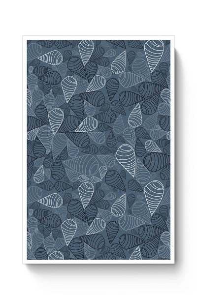 Swirl geometric  on grey Poster Online India