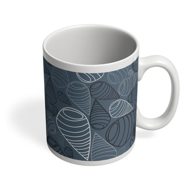Swirl geometric  on grey Coffee Mug Online India