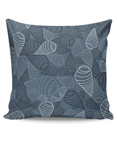 Swirl geometric  on grey Cushion Cover Online India