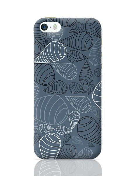 Swirl geometric  on grey iPhone 5/5S Covers Cases Online India
