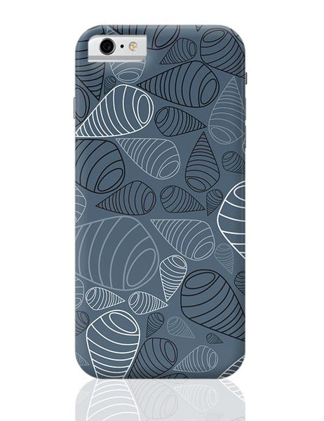 Swirl geometric  on grey iPhone 6 6S Covers Cases Online India