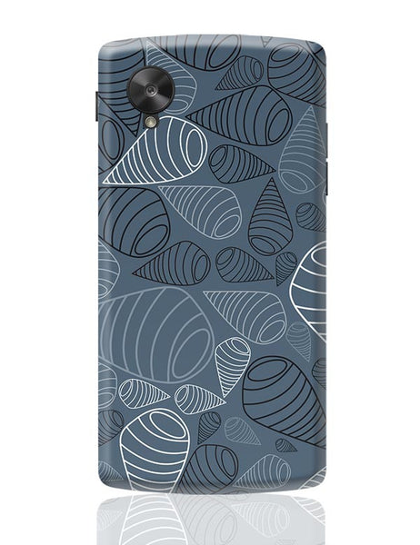Swirl geometric  on grey Google Nexus 5 Covers Cases Online India