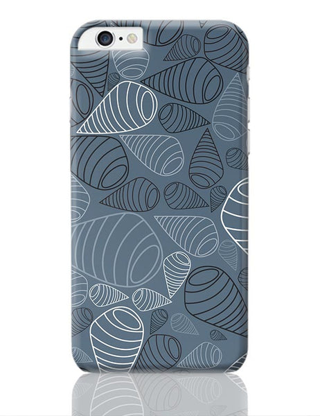 Swirl geometric  on grey iPhone 6 Plus / 6S Plus Covers Cases Online India