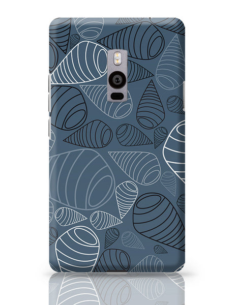 Swirl geometric  on grey OnePlus Two Covers Cases Online India
