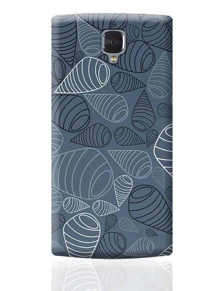 Swirl geometric  on grey OnePlus 3 Covers Cases Online India