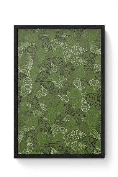 Geometric swirl on green Framed Poster Online India