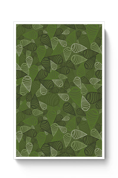 Buy Geometric swirl on green Poster