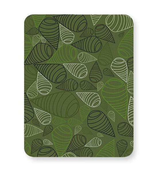 Geometric swirl on green Mousepad Online India